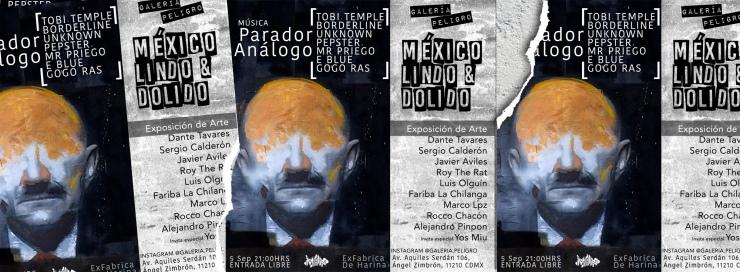 mexico lindo y dolido galeria peligro colectivo mad in fb cover